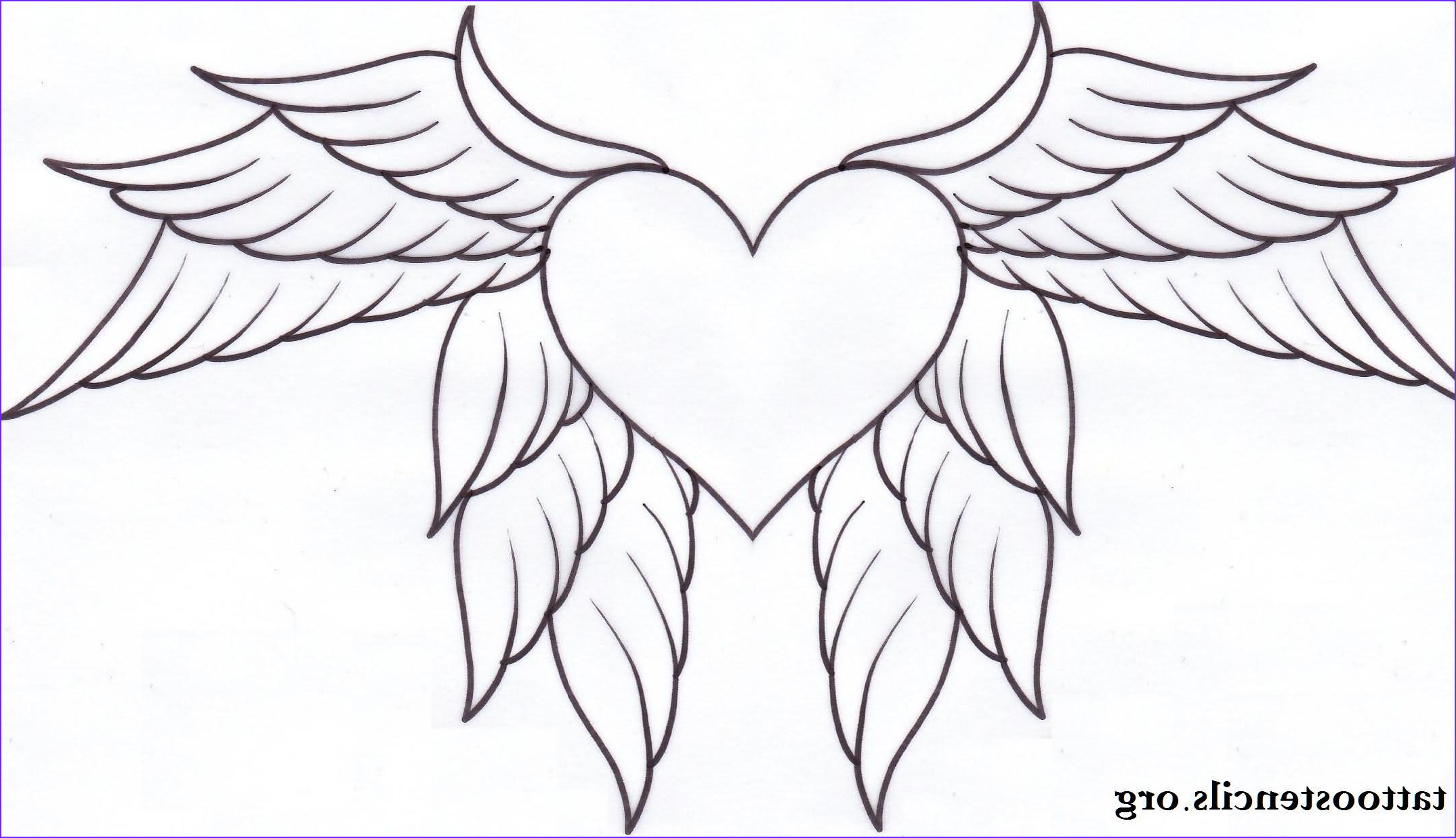 Heart With Wings Coloring Page Beautiful Photos Heart Tattoos Page 181