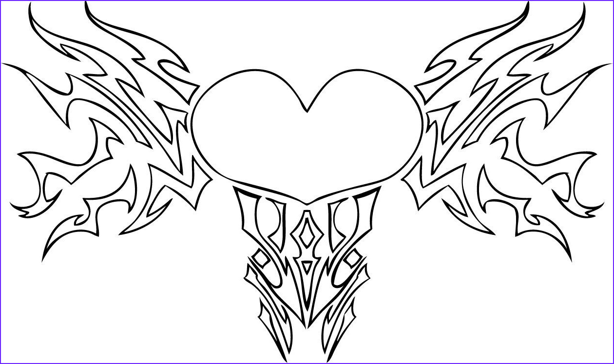 Heart With Wings Coloring Page Luxury Stock Hearts With Wings Coloring Pages