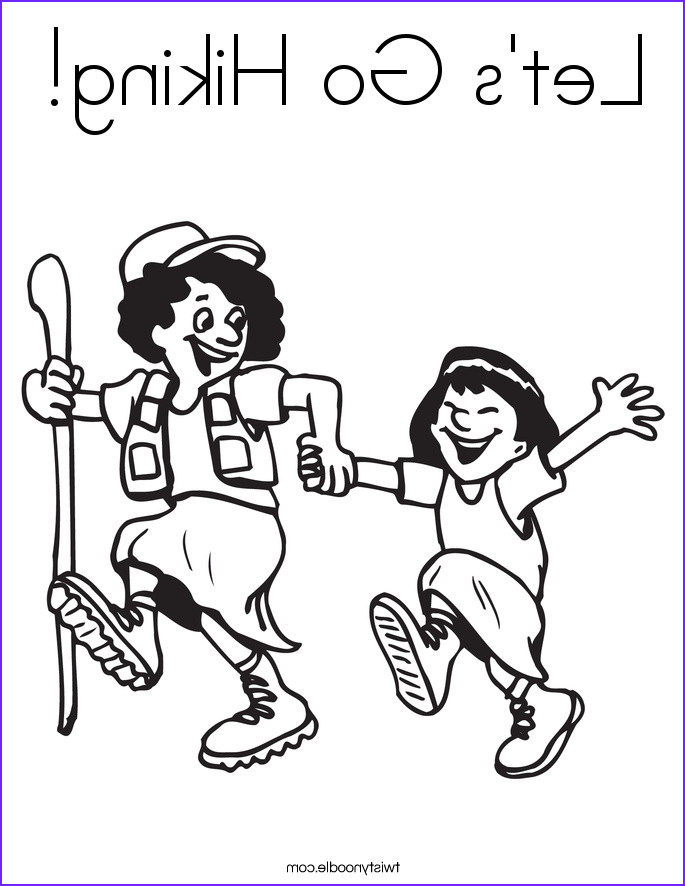 lets go hiking coloring page