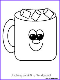 Hot Cocoa Coloring Page Awesome Stock Hot Chocolate Mug Template Printable Sketch Coloring Page