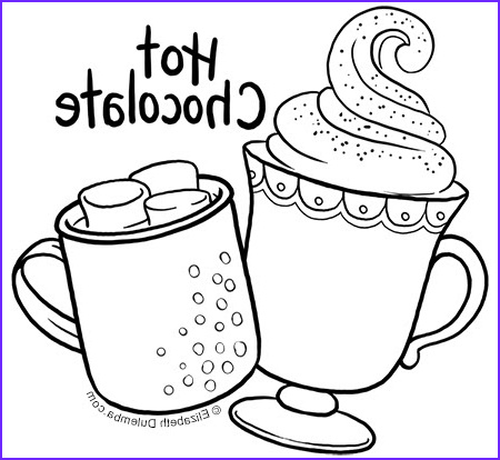 coloring page tuesday hot chocolate