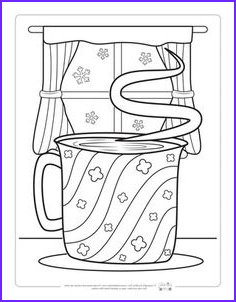 Hot Cocoa Coloring Page Beautiful Stock Free Printable Hot Chocolate Winter Coloring Page for Kids