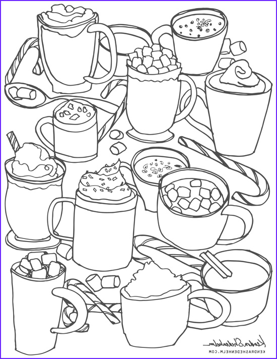 free hot chocolate coloring page
