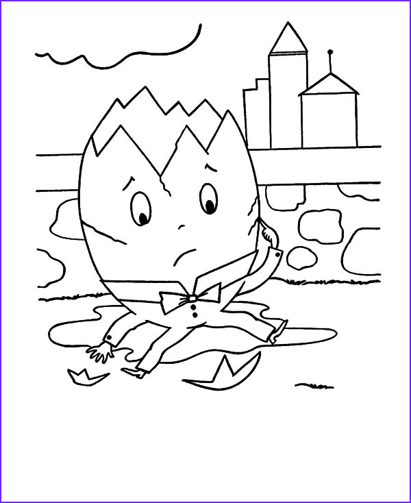 humpty dumpty head cracked open coloring pages