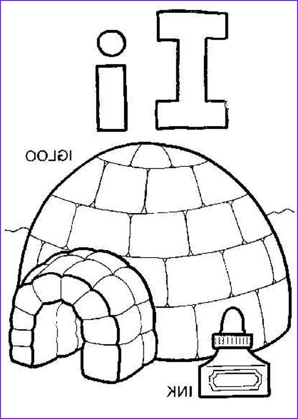 Igloo Coloring Page Awesome Image Igloo Coloring Page at Getcolorings