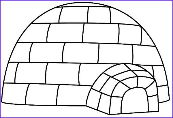 Igloo Coloring Page Awesome Photos Igloo 58 Buildings and Architecture – Printable
