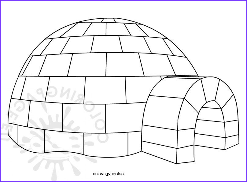 Igloo Coloring Page Beautiful Gallery Igloo – Coloring Page