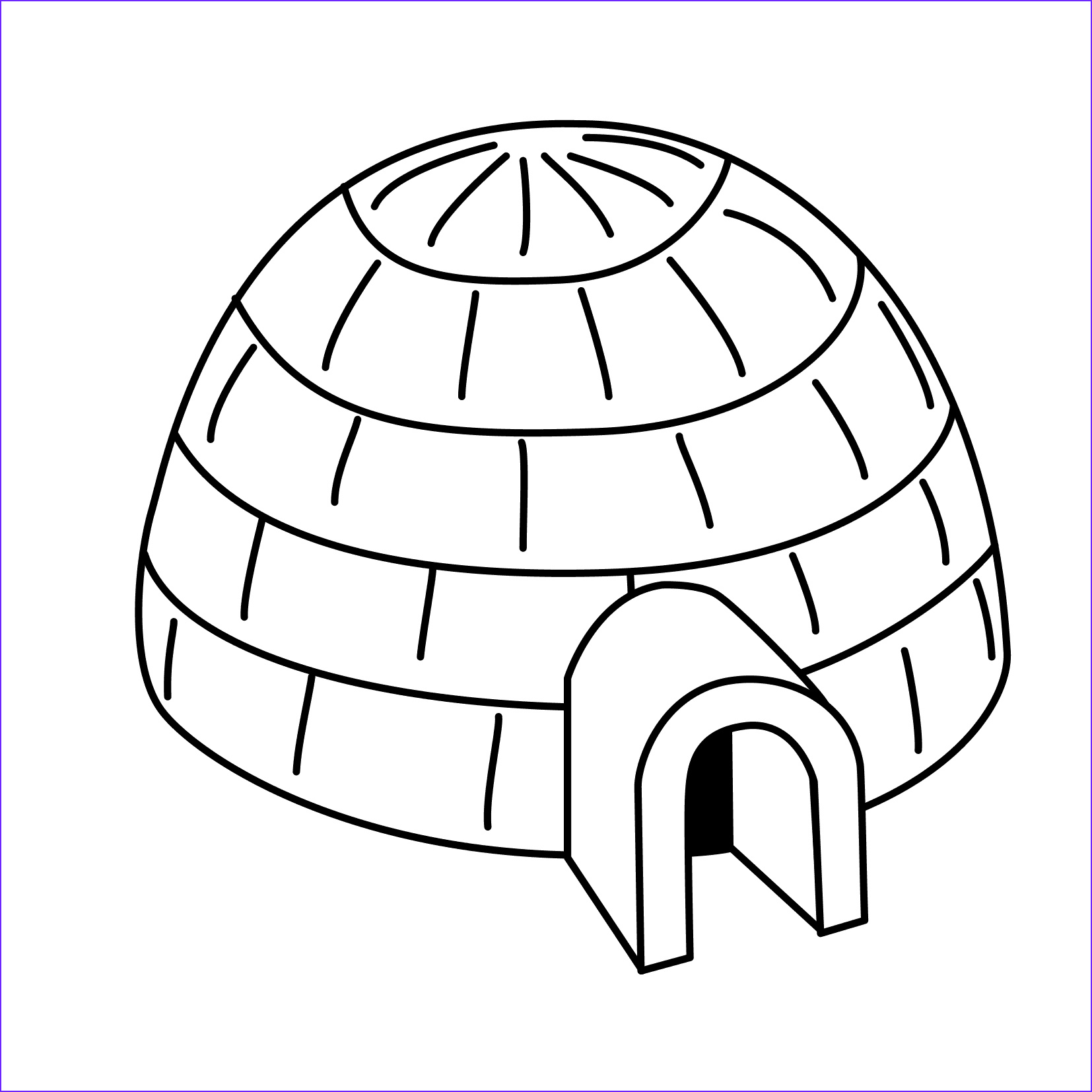 Igloo Coloring Page Beautiful Photography Igloo 5 Buildings and Architecture – Printable Coloring