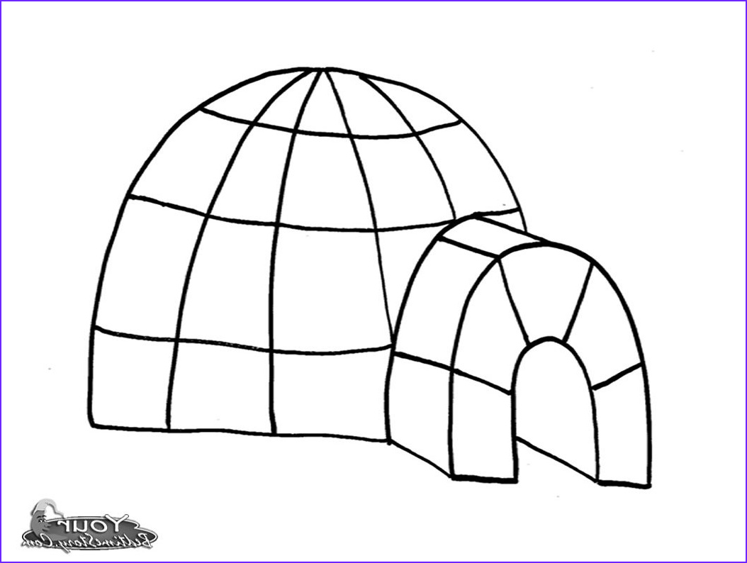 Igloo Coloring Page Best Of Photos Igloo 25 Buildings and Architecture – Printable