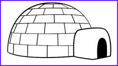 Igloo Coloring Page Cool Images Igloo Coloring Page