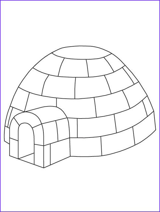 Igloo Coloring Page Unique Photos Igloo Coloring Page