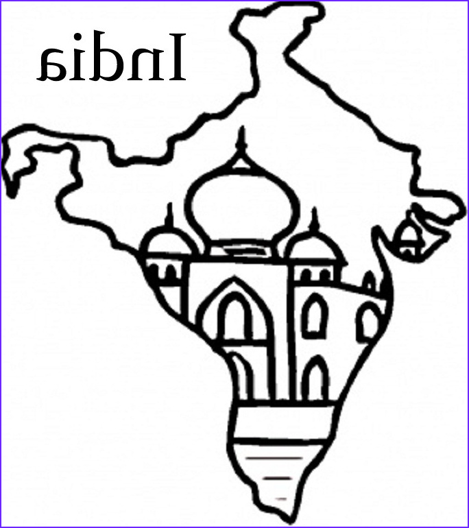 India Coloring Page Elegant Photos Nation