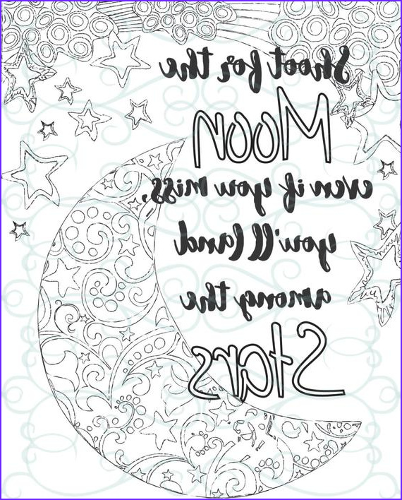 Inspirational Quotes Coloring Page for Adults Cool Collection Adult Inspirational Coloring Page Printable 04 Shoot for the