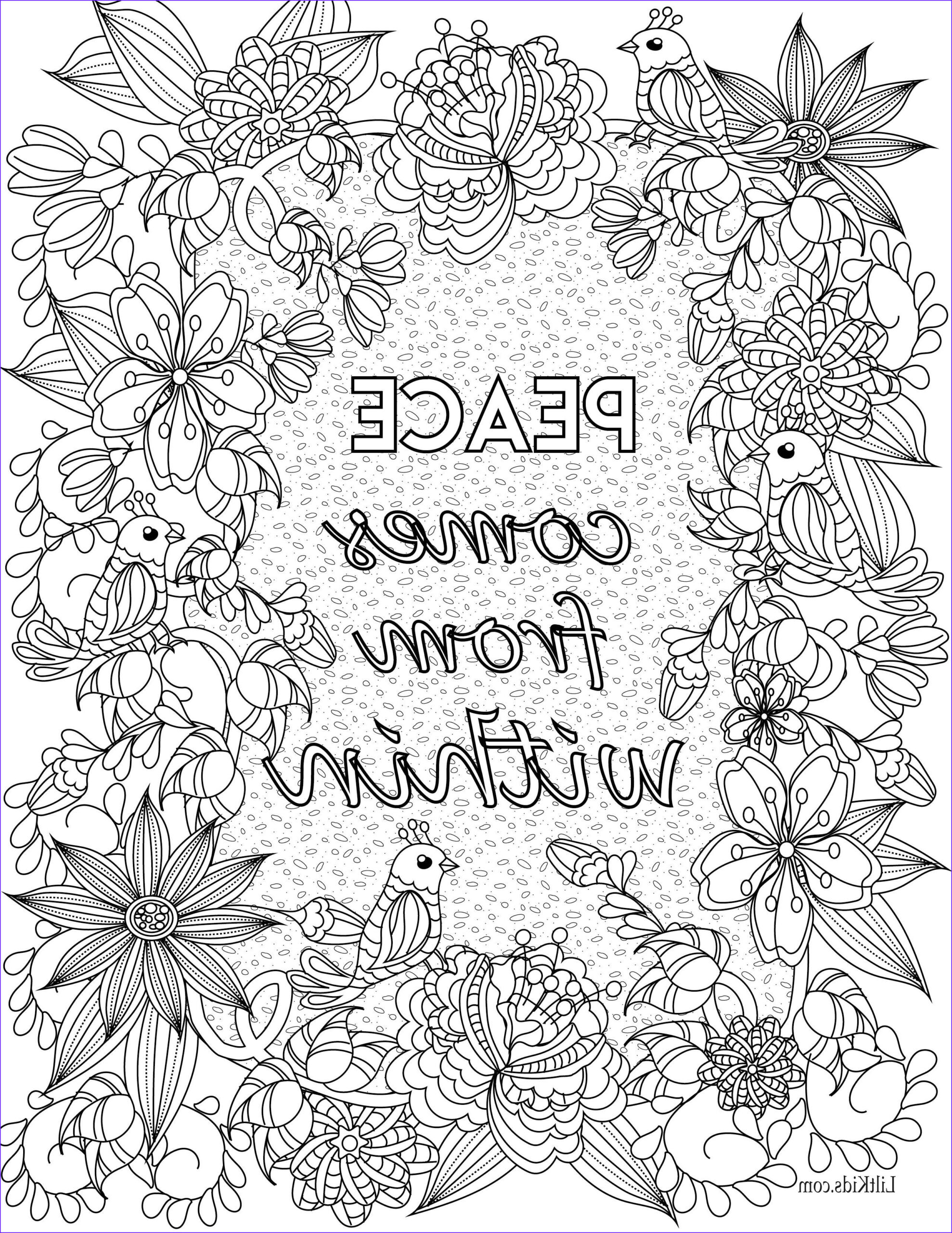 Inspirational Quotes Coloring Page for Adults New Gallery Free Inspirational Quote Adult Coloring Book Image From