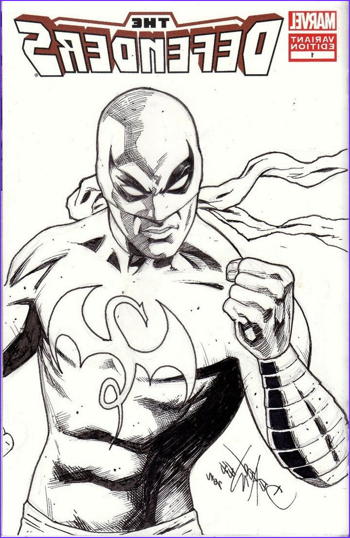 iron fist marvel coloring pages