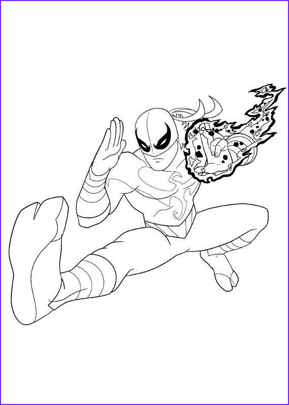iron spider coloring pages marvel superhero