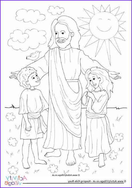Jesus Coloring Page for Kids Printable Awesome Photos Jesus and Children Colouring Page