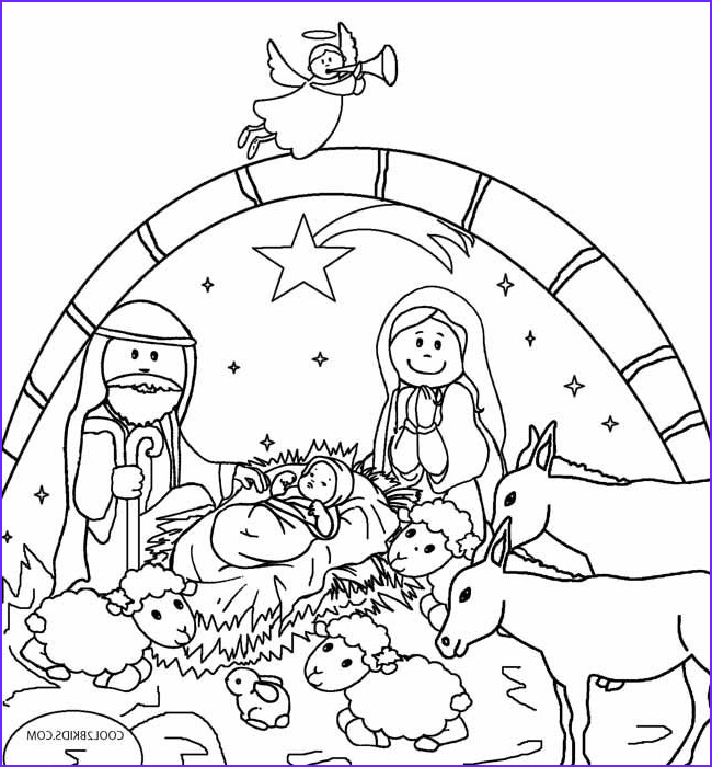 Jesus Coloring Page for Kids Printable Cool Collection Printable Nativity Scene Coloring Pages for Kids