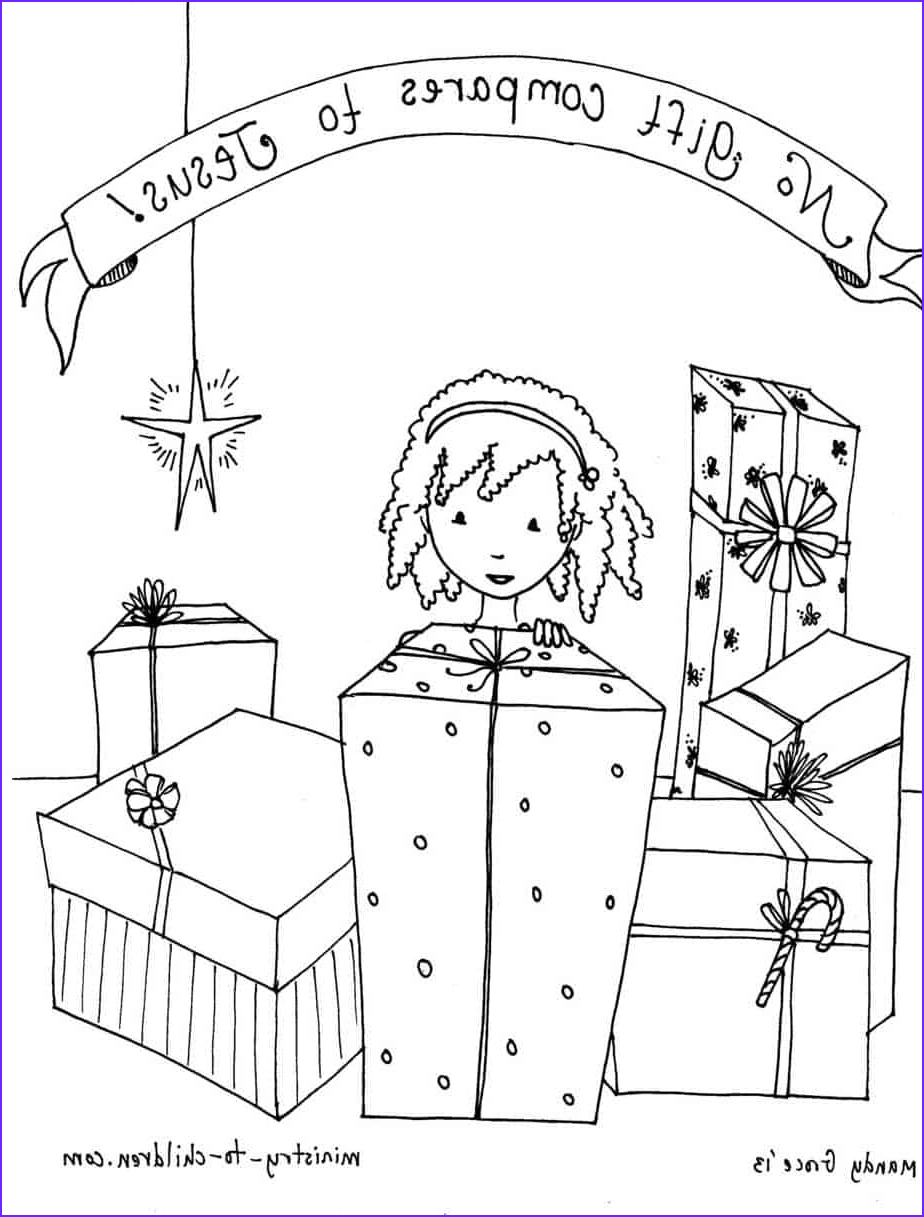 """Jesus Coloring Page for Kids Printable Inspirational Stock """"no Gift Pares to Jesus """" Coloring Sheet for Children"""