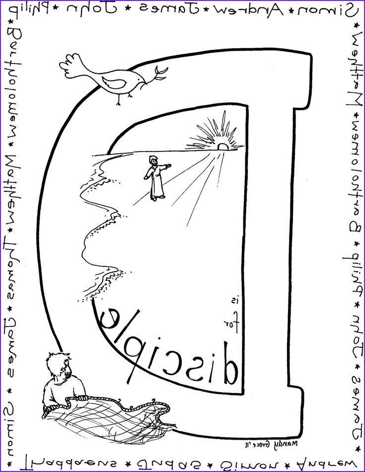 Jesus Coloring Page for Kids Printable Luxury Photos Disciple Coloring Page Stuff for Kids