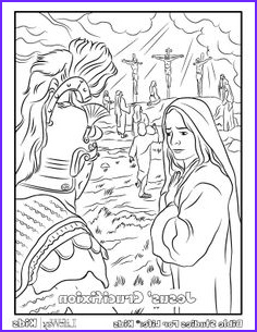 Jesus Resurrection Coloring Page New Collection 451 Best Bible Coloring Time Images In 2019