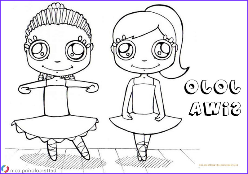jojo siwa coloring pages with coloriage danseuse