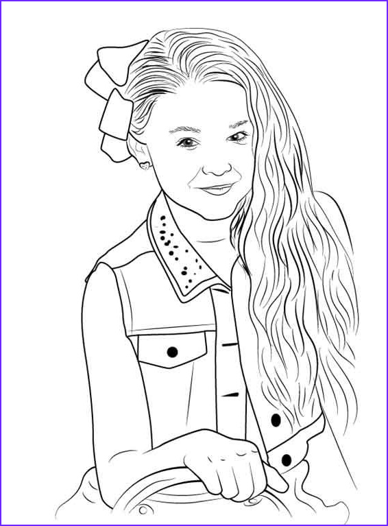 Jojo Siwa Coloring Page to Print Inspirational Gallery On Ecoloringsfo