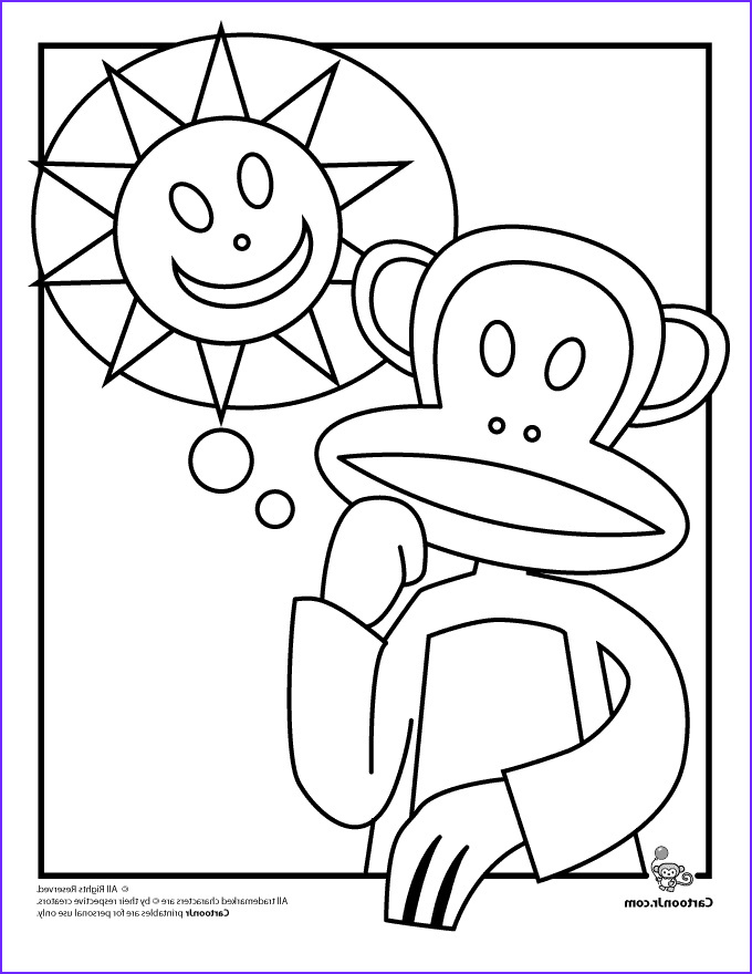 Julius Jr Coloring Page Awesome Photos Paul Frank Printable Coloring Pages Julius The Monkey Paul