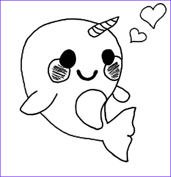 Kawaii Animals Coloring Page Luxury Collection Cute Baby Narwhal Coloring Pages