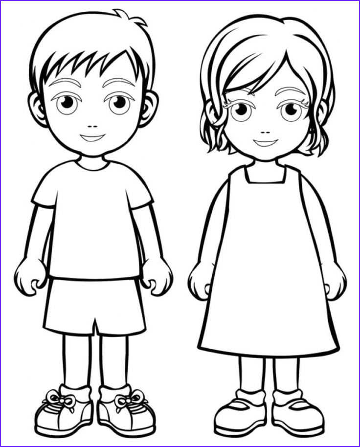 Kids Coloring Page Boys Luxury Photos Boy Girl Coloring Page Boys and Girls Wear Colouring Pages