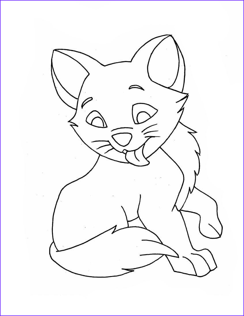 Kitten Coloring Picture Awesome Photos Pisica Planse De Colorat Si Educative