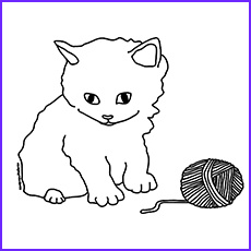 lovely kitten coloring pages for your little ones