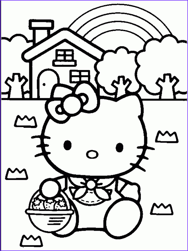 Kitty Coloring Picture New Photos Free Coloring Pages Hello Kitty Easter Coloring Pages