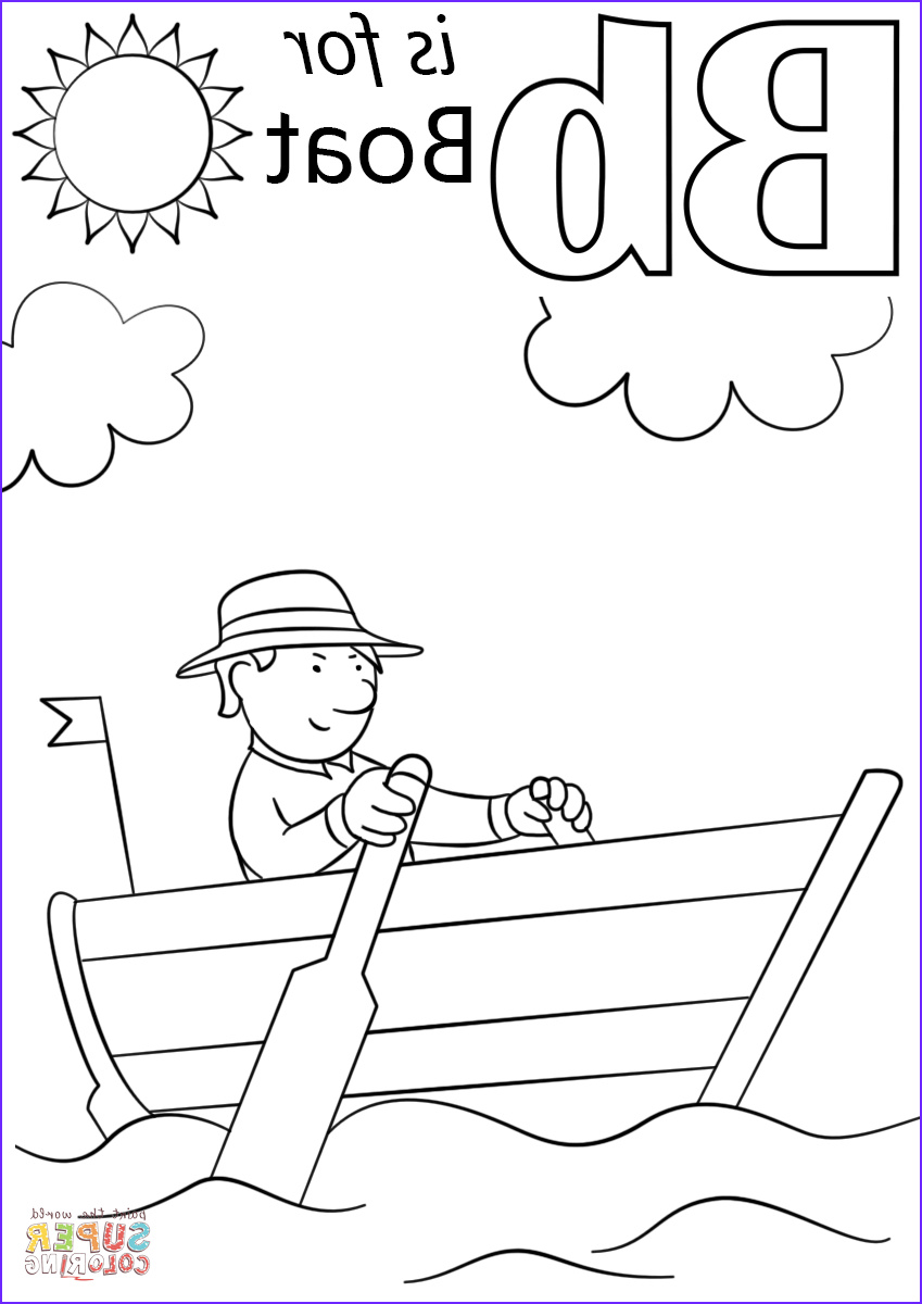 Letter B Coloring Page for toddlers Luxury Photos Letter B is for Boat Coloring Page
