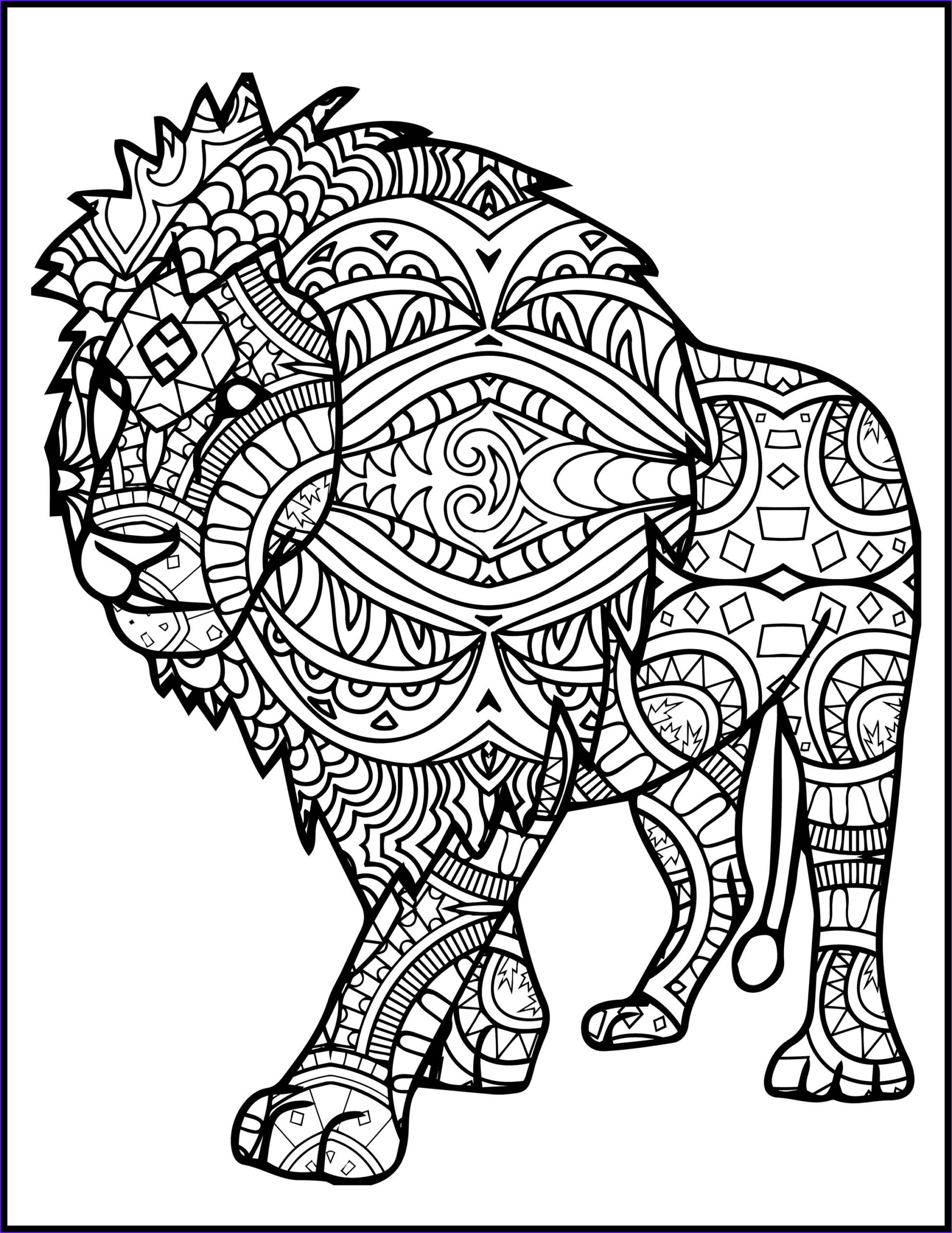 3 printable pages for coloring for lion