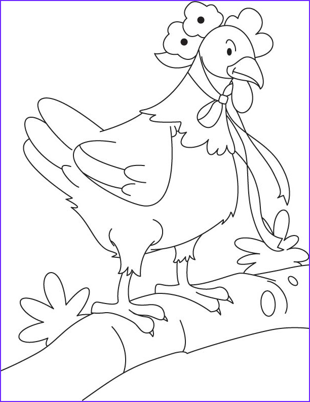 little red hen coloring page 1d5083
