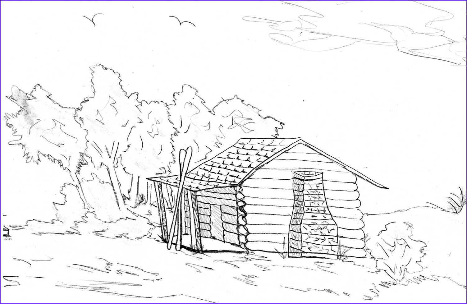 Log Coloring Page Beautiful Photos Log Cabin Coloring Pages Coloring Home