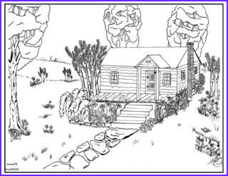 Log Coloring Page Cool Collection the Rag Coat Log Cabin Coloring Sheet