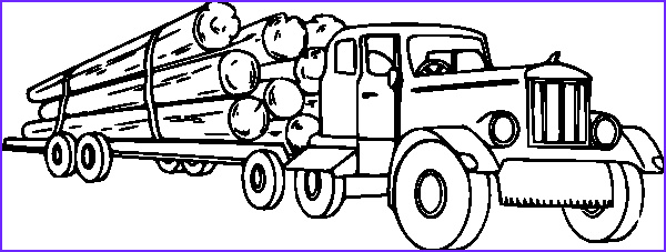 Log Coloring Page New Photos Log Truck Coloring Pages Paintbrush Art Ideas