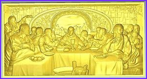 Lord's Supper Coloring Page Cool Collection Lord S Supper 3d Stl File Model for Cnc Router Machine