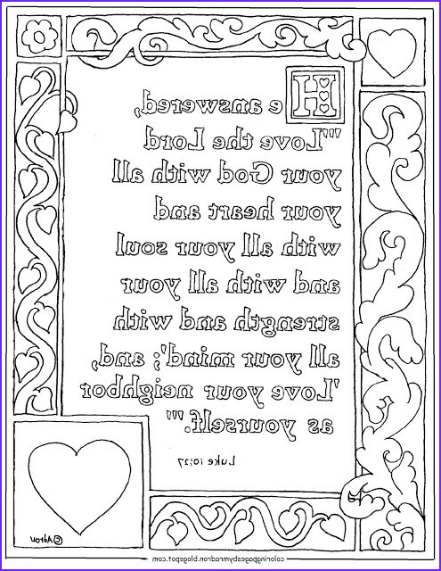 luke 1027 printable coloring page love