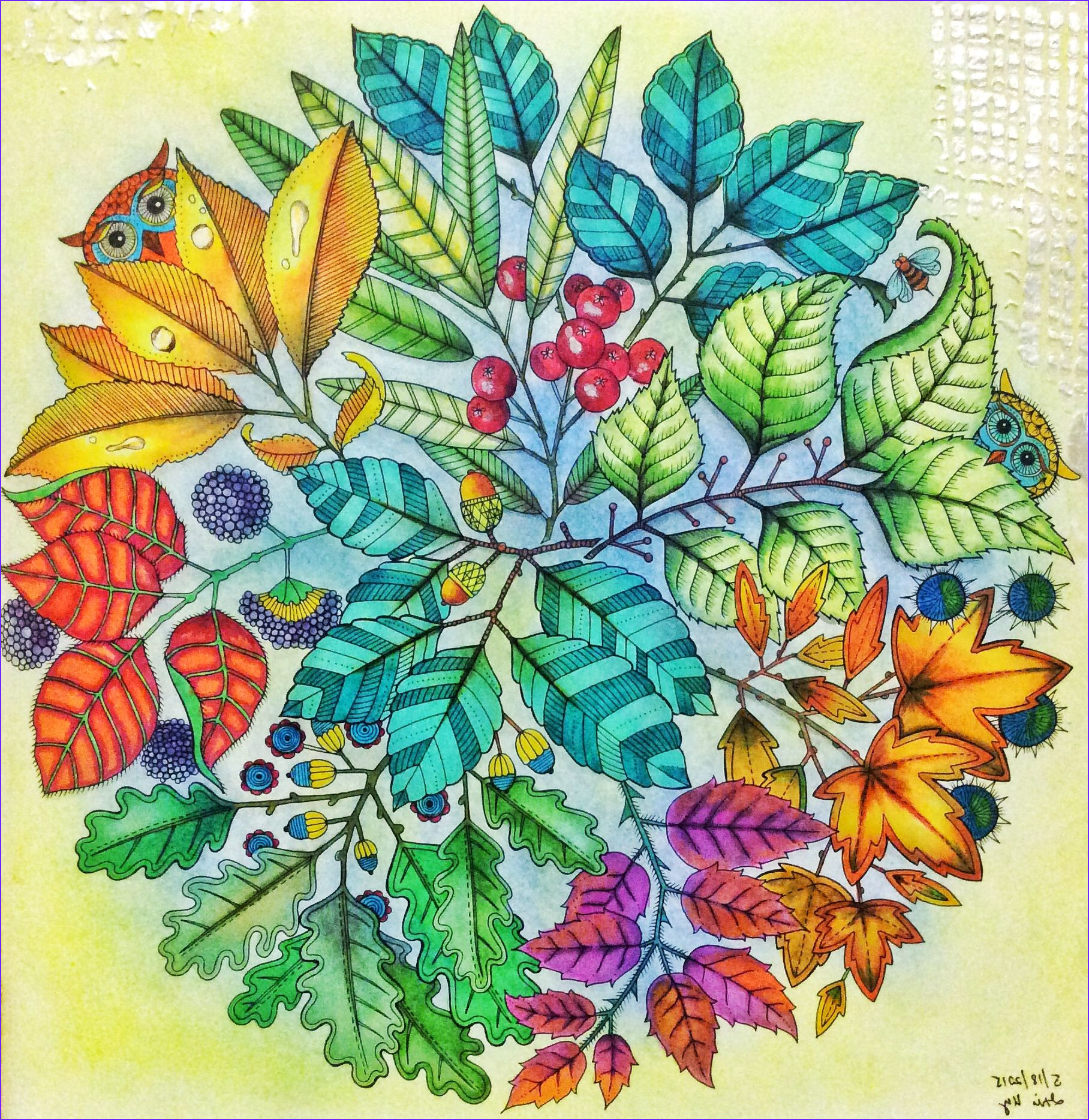 Magical Garden Coloring Book New Gallery From Secret Garden Coloring Book Used soft Pastels and
