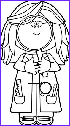 Magnifying Glass Coloring Page Beautiful Image Scientist with Big Magnifying Glass Coloring Sheet for