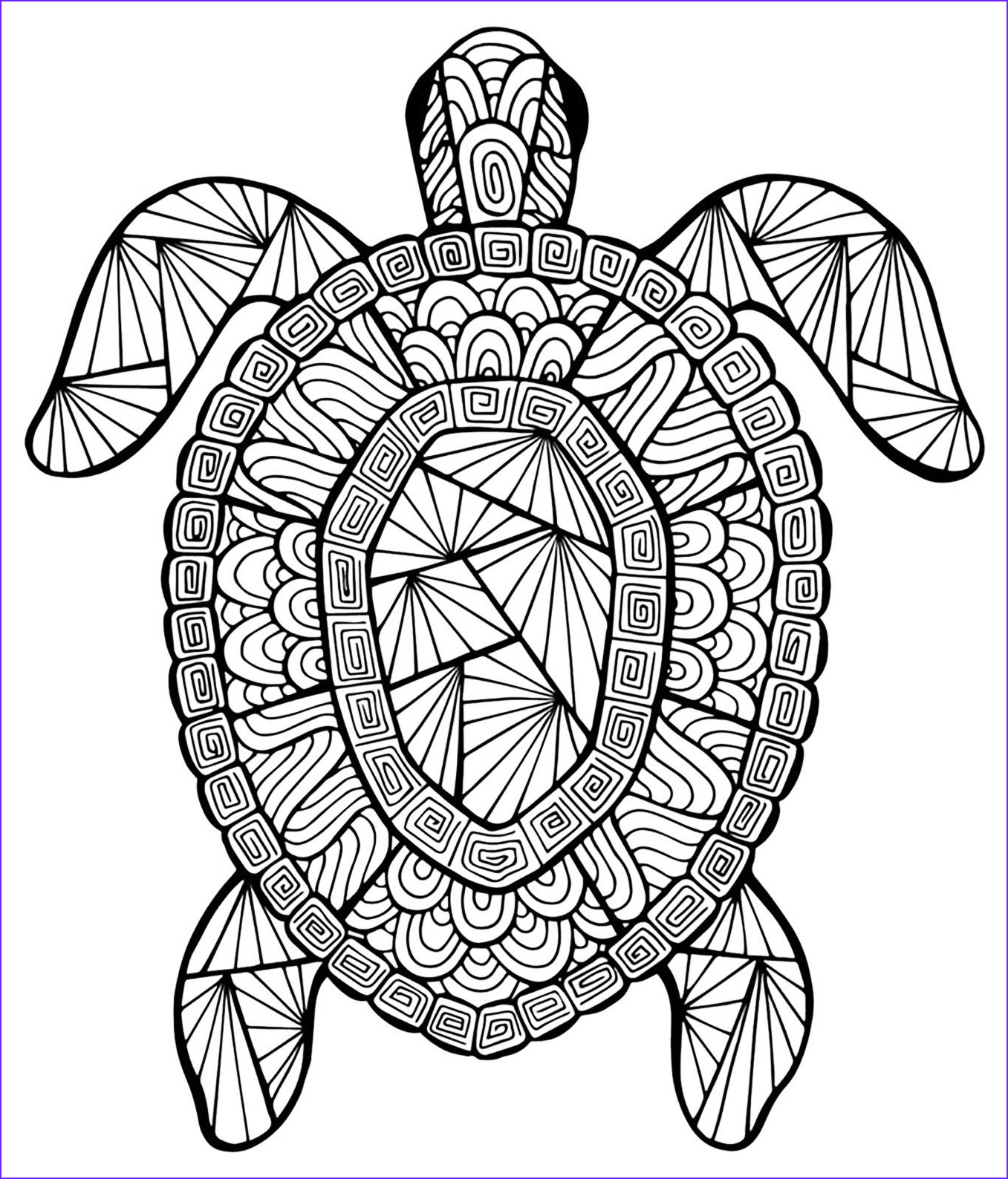 Mandala Coloring Animals Beautiful Images Color This Incredible Turtle
