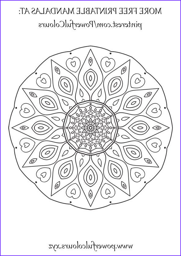 Mandala Coloring Therapy Beautiful Images Intermediate Mandala 12 Free Colouring Pages For Adults
