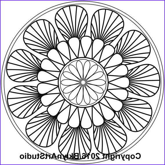 Mandala Coloring Therapy Best Of Stock Items Similar To Floral Inspired Mandala Printable