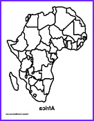 free africa theme coloring pages and