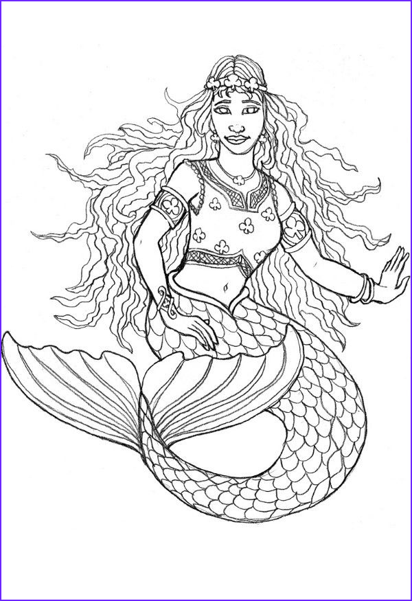 Mermaid Coloring Book Page Awesome Collection Free Printable Mermaid Coloring Pages for Kids