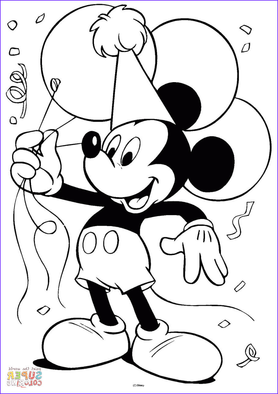 mickey mouse with balloons