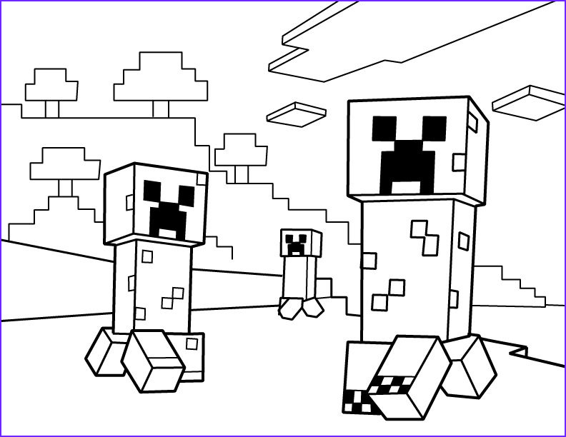 Minecraft Coloring Page Creeper Beautiful Photos Creepers Pdf Printable Coloring Page Minecraft